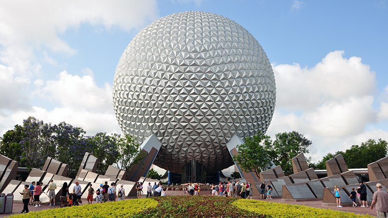 go inside epcot ball