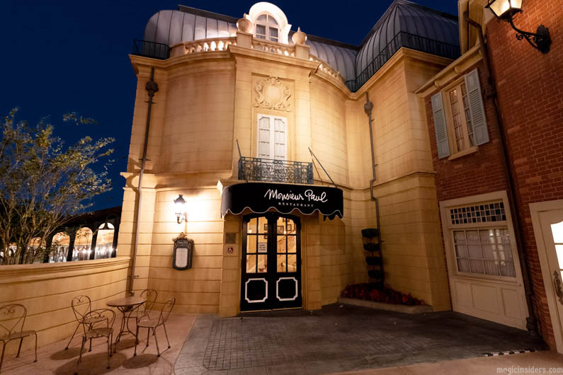 Monsieur Paul French Restaurant at Epcot
