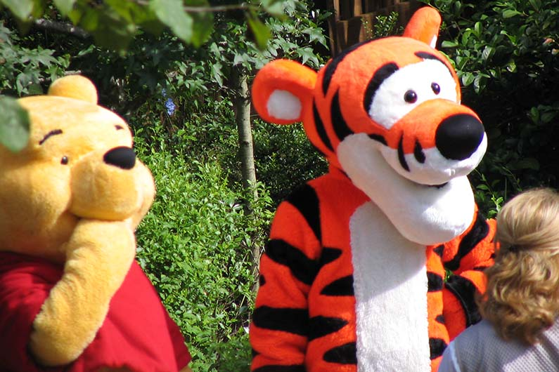 magic kingdom characters pooh tigger