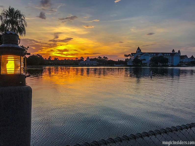 disney world polynesian resort sunset