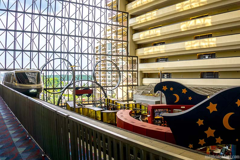 contemporary resort monorail main floor