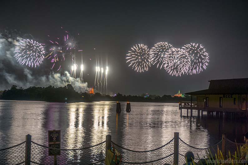polynesian resort beach fireworks