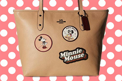Coach Minnie Patches Disney Tote Purse