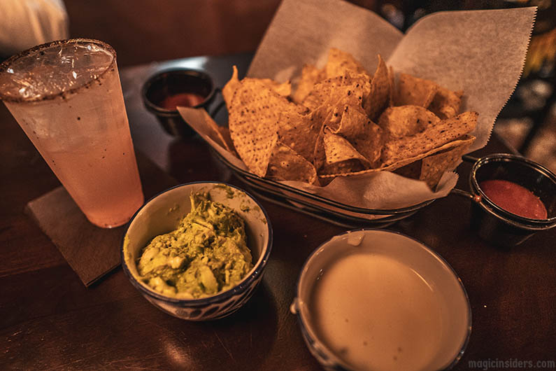 Epcot Chips & Salsa with Guacamole & Queso