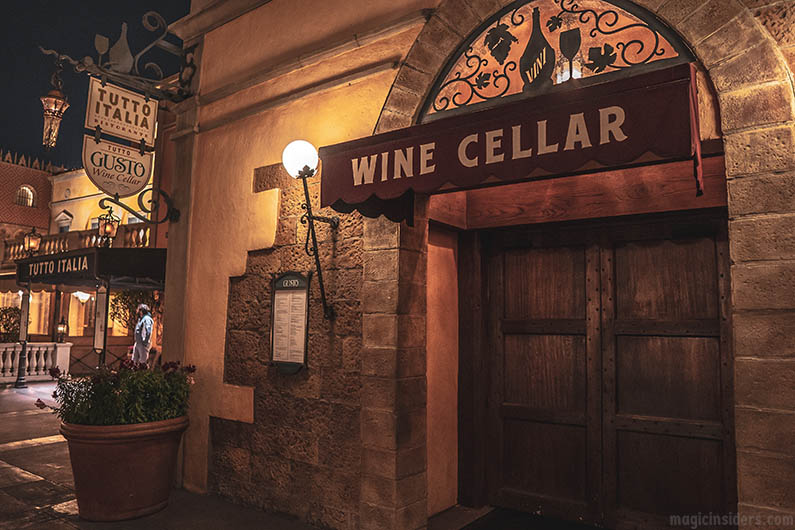 Tutto Gusto Wine Cellar - Epcot Dining