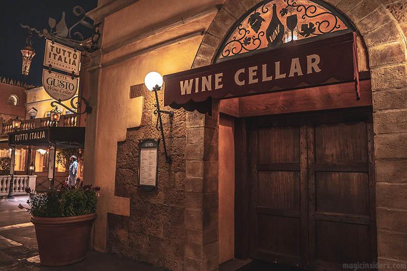 Tutto Gusto Wine Cellar - Epcot Dining
