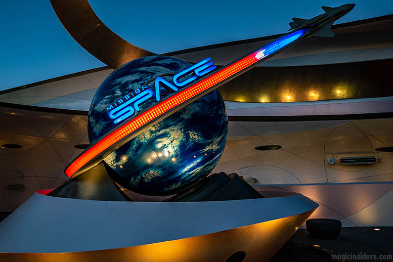Epcot Mission Space Intensity Orange & Green