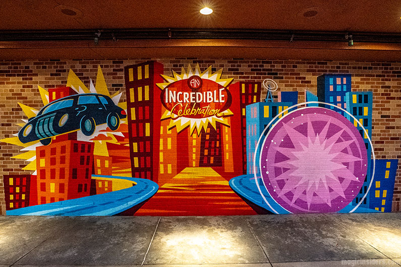 Find the Incredibles Wall and the Popsicle Wall at Hollywood Studios
