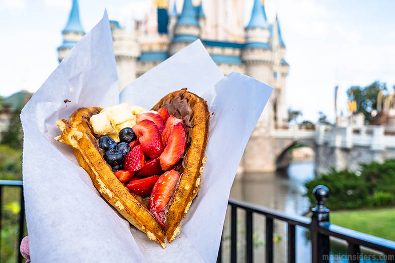Fresh Fruit Waffle at Disney