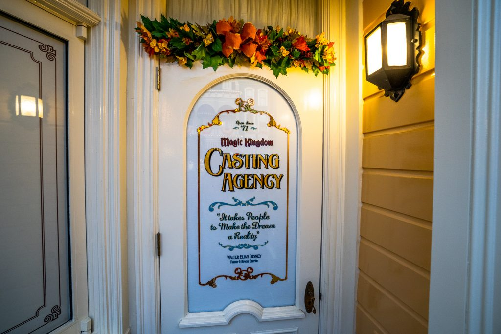 Magic Kingdom Casting Agency Door