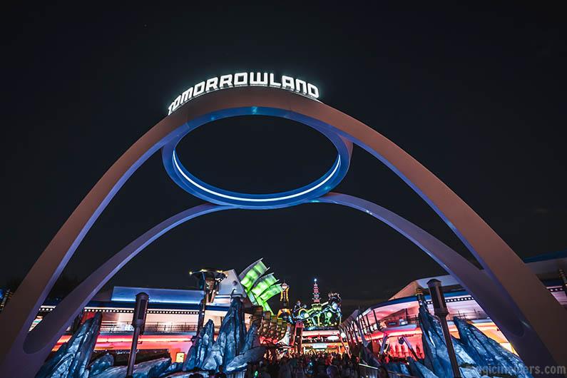Tomorrowland at Night Time